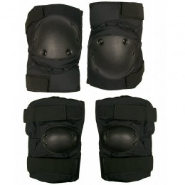 Set Protector Genunchi si Coate Black