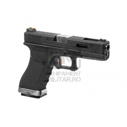 Pistol Airsoft G-Force 17 BK Silver Barrel Metal Version GBB