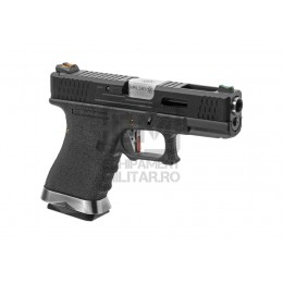 Pistol Airsoft G-Force 19 BK Silver Barrel Metal Version GBB