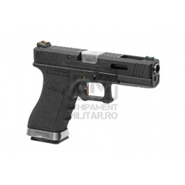 Pistol Airsoft G-Force 18C BK Silver Barrel Metal Version GBB