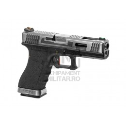 Pistol Airsoft G-Force 18C SV Silver Barrel Metal Version GBB