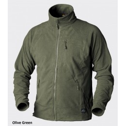 Jacheta Alpha Grid Fleece Oliv Green